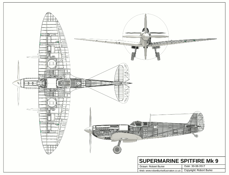 Spitfire Plan from 3D Model