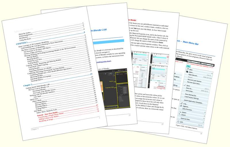 Pages from the Blender 2.80  Guide Book