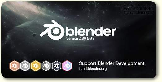 Blender 2.80 Beta Splash Screen