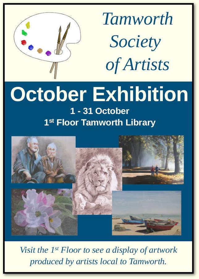 Tamworth Society of Artists Exhibition Poster